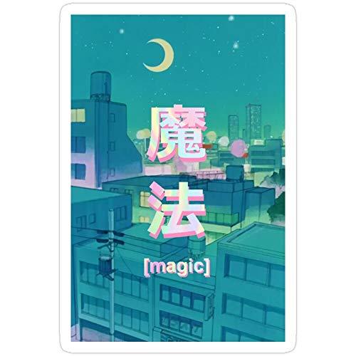 Ranggerpolocon Mahou 7727766543181 Nacht-Anime-Aufkleber, 3 Stück