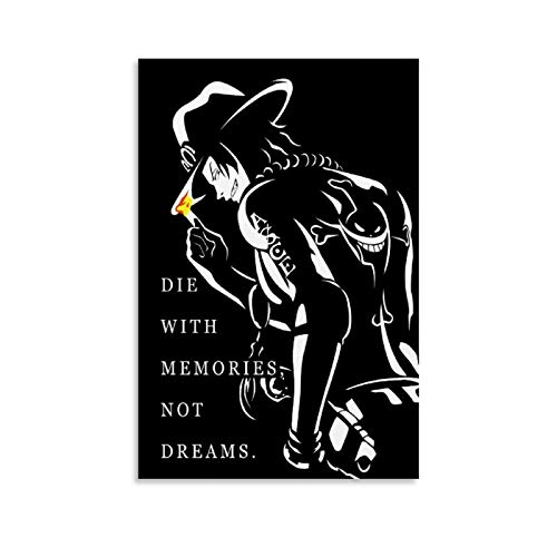 One Piece ACE Inspirational Quotes Anime Canvas Art Poster and Wall Art