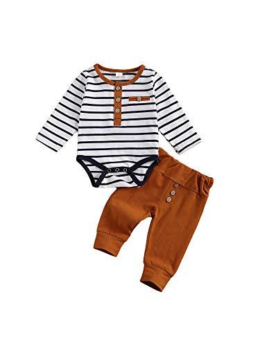 2Pcs/Set Newborn Baby Boys Outfit L…