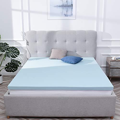RECCI - Cubrecolchón de 90 x 200 cm, memoria de forma de 4 cm, colchón para adultos de espuma con tecnología innovadora, colchón refrescante con gel, colchón cómodo, mullido y de apoyo