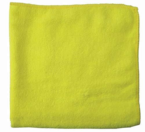 Wisch-Star 30x Premium Mikrofasertuch, quadratisches Frottee Reinigungstuch 40x40 in Gelb