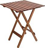 Spetebo Eukalyptus Gartentisch - 60x60 cm - Holz Klapptisch Bistrotisch Biergarten Tisch