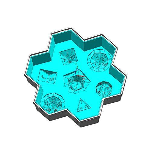 Polígono Digital Ice Celosía Moldes de dados Polyhedral Juego dados Moldes Multi-spec