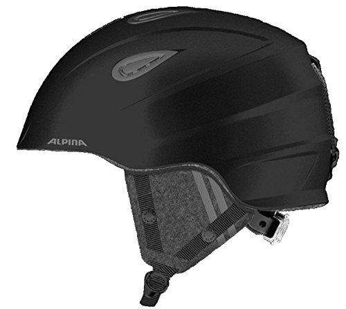 Alpina Erwachsenen Skihelm Grap 2.0 LE mit Lüftung black-grey, Größe:61-64
