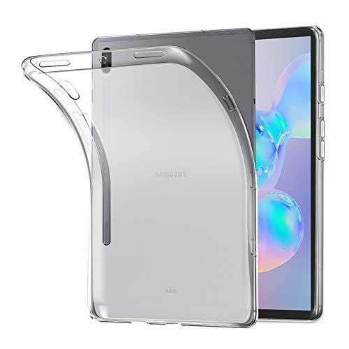 A-VIDET Hülle für Samsung Galaxy Tab S6 2019,Ultradünnes Silikon Mattierte Softschale Rundumschutz Anti-Fall Anti-Fingerabdruck Gehäuse Einfache Rückenschutzhülle für Samsung Galaxy Tab S6 2019(Weiß)