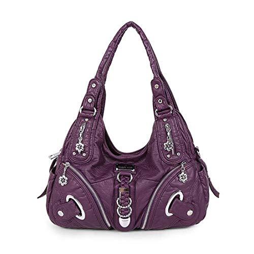 SPFTOY Damen Rucksackhandtasche, Handtasche und Rucksack-Lila