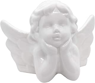 Little Baby Child Angel Statue Figurine Sculpture Porcelain Cherub Wings Angel Statue Figure Home Garden Guardian Decorative Memorial Statue