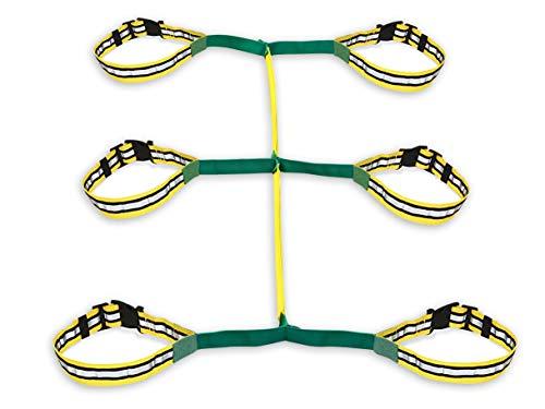 Walkodile Safety Web (6 kinder). Laufleine, Laufseil für Kinder, Sicherheitsleine für Kids mit kostenlosen Lernspielen für Spaziergänge Broschüre/Anleitung