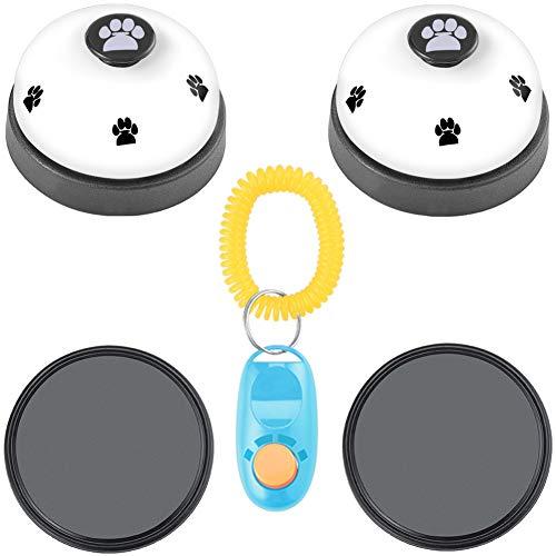 Cizen 2 Piezas Campanas de Entrenamiento para Mascotas, Juguetes Interactivos para Perros, Timbres para Gatos, Entrenamiento Ideal para Orinal y Dispositivo de Comunicación (Blanco)