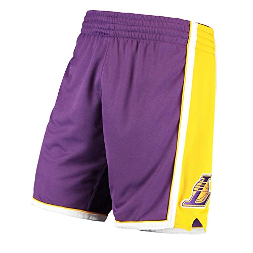 WWWJ Herren Lōs Angēlēs Lakērs Männer Basketball Shorts Gold 2009-10 Hardwood Classics Authentic Shorts Gr. M, Trainingshose