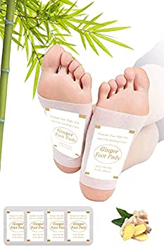 Foot Pads   Ginger Foot Pads for Your Good Feet   Foot and Body Care   Apply Sleep & Feel Better   All Natural & Premium Ingredients for Best Combination & Results   20 PCS.