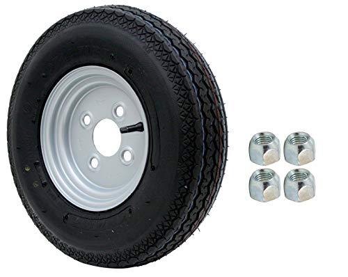 DDR Stema Anhänger Deli Reifen Ersatzrad Komplettrad 4.00-8 / 4.80 - 8 4PR 62M Rad inklusive 4x Kegelradmuttern