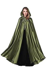 BEAUTELICATE Women's Wedding Hooded Cape Bridal Cloak Poncho Full Length (More Colors)