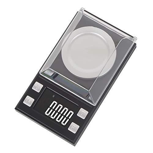 zNLIgHT Taschenwaage, LCD-Digitalwaage, Mini-Labor, elektronisches Gewicht, Werkzeug für Schmuck, Medizin, Schwarz, 10 g / 0,001 30g/0.001 Schwarz