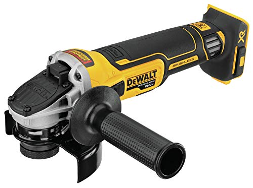 DEWALT 20V MAX XR Angle Grinder with Kickback Brake, Slide Switch, 4-1/2-Inch, Tool Only (DCG405B)