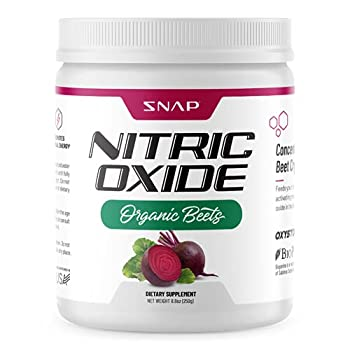 Beet Root Powder Organic - Nitric Oxide Beets by Snap Supplements - Supports Lower Blood Pressure and Circulation Superfood Muscle & Heart Health Increase Stamina & Energy 250g  30 Servings