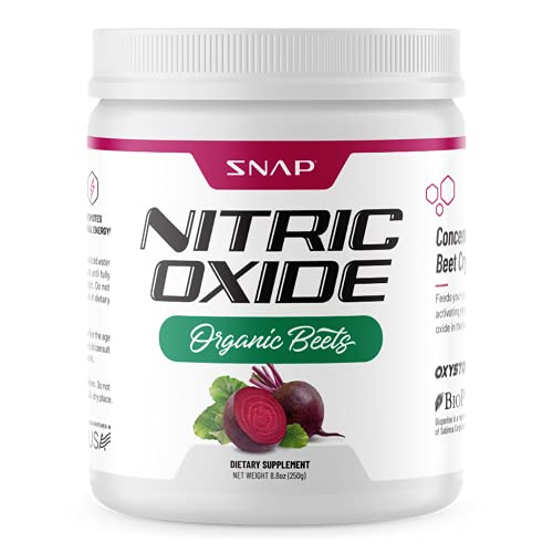 Beet Root Powder Organic - Nitric Oxide Beets by Snap Supplements - Supports Lower Blood Pressure and Circulation Superfood, Muscle & Heart Health, Increase Stamina & Energy, 250g (30 Servings)