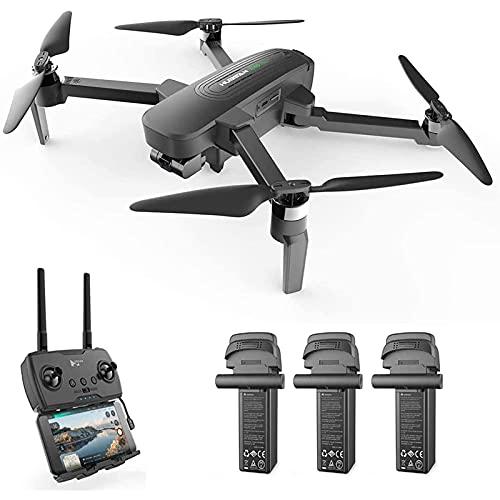 JJDSN Drone con Fotocamera, Drone con Fotocamera UHD 4K 3-Axis Gimbal GPS FPV RC Quadcopter, Motore brushless con Ingranaggi 8KM Ritorno Automatico a casa 39 Minuti di Volo, 1 Batteria