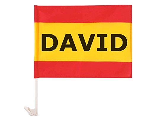 Originele vlag Spanje voor de auto, personaliseerbaar met uw naam of tekst, 40 x 30 cm
