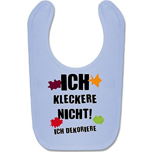 Shirtracer Sprüche Baby - Ich kleckere nicht! - Unisize - Babyblau - nikolausgeschenke - BZ12 - Baby Lätzchen Baumwolle