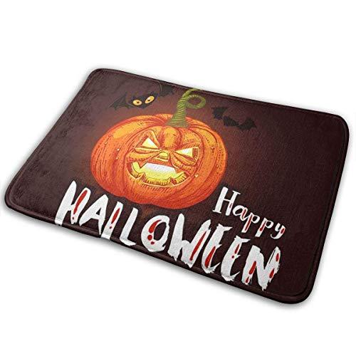 tianjinjinmingyumaoyi Indoor Deur Mat Donker Halloween met Pompoen Entryway Tapijt Welkom Mat Keuken Tapijt met Niet Slip Backing 16 X 24 Inch