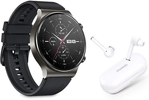 【HUAWEI Watch GT2 Pro + HUAWEI Freebuds 3i (gift with purchase)】 - Smartwatch, 1.39'' AMOLED HD Touchscreen, 2-Week Battery Life, GPS and GLONASS, SpO2, 100+ Workout Modes, Bluetooth Calling, Heartrate Monitoring, Canadian Warranty (Nebula Gray)