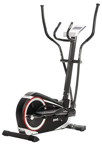 SportPlus Crosstrainer für zuhause - 24 Stufen & 24 Trainingsprogramme, Ergometer mit App Steuerung (u.a. Kinomap), ca. 17 kg Schwungmasse, Sicherheit geprüft bis 150 kg, SP-ET-9600-iE
