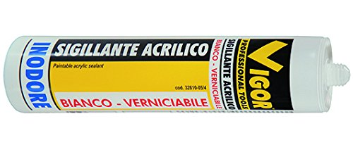 Vigor 3281005 Acrilico-1 Sigillante, Bianco, 310 ml