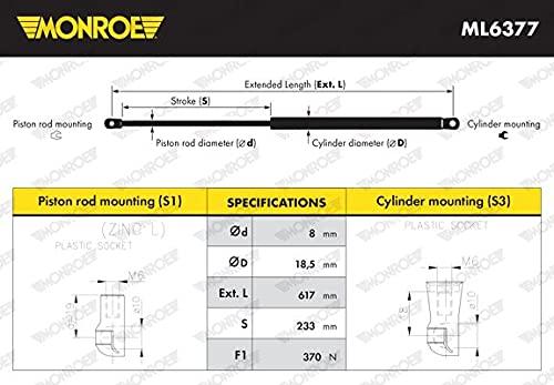 MONROE ML6377 - Muelle neumático para maletero/compartimento de carga