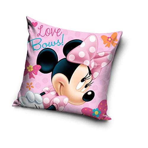 Une Funda de cojín de Mickey o Minnie Mouse, 40 x 40 cm (rosa 20712)