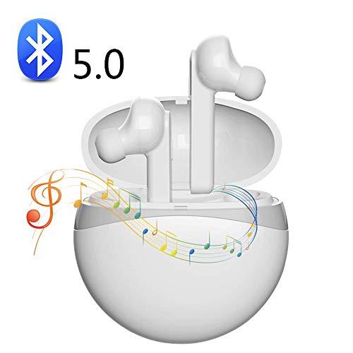 Bluetooth 5.0-oordopjes, TWS-stereo-stereo-stereo-stereo-oordopjes, zweetbestendige sport- en fitness-oordopjes, niet eenvoudig te vallen, met laadkoffer en microfoon