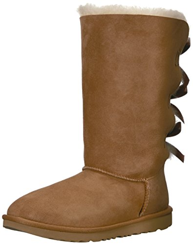 UGG Kids' Bailey Bow Tall II Boot, Chestnut, 3 M US Little Kid