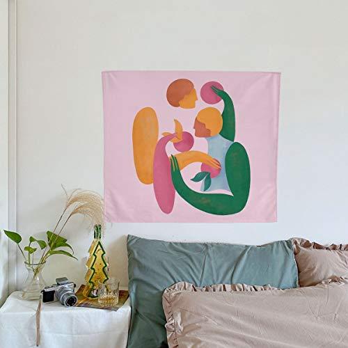 QAWD Toalla de Playa geométrica patrón de Belleza Vestido Tapiz Creativo Playa Vacaciones Fondo Tela Manta Colgante de Pared A15 130x150cm