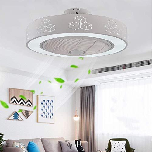 XMYX Neue Moderne Kreative Fan Deckenventilator LED Deckenleuchte mit Fernbedienung Leise Deckenventilatoren Schlafzimmer Lampe Wohnzimmer Kindergarten Büro Deckenlüfter Lüfter Lampe, 72W