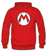 Mx Games Sudadera Mario Bros con el diseño Logo M (Talla: 7-8 años)