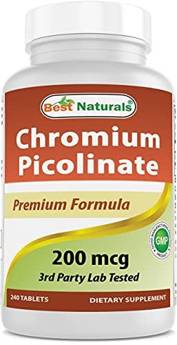 Best Naturals Chromium Picolinate Tablet, 200 mcg, 240Count