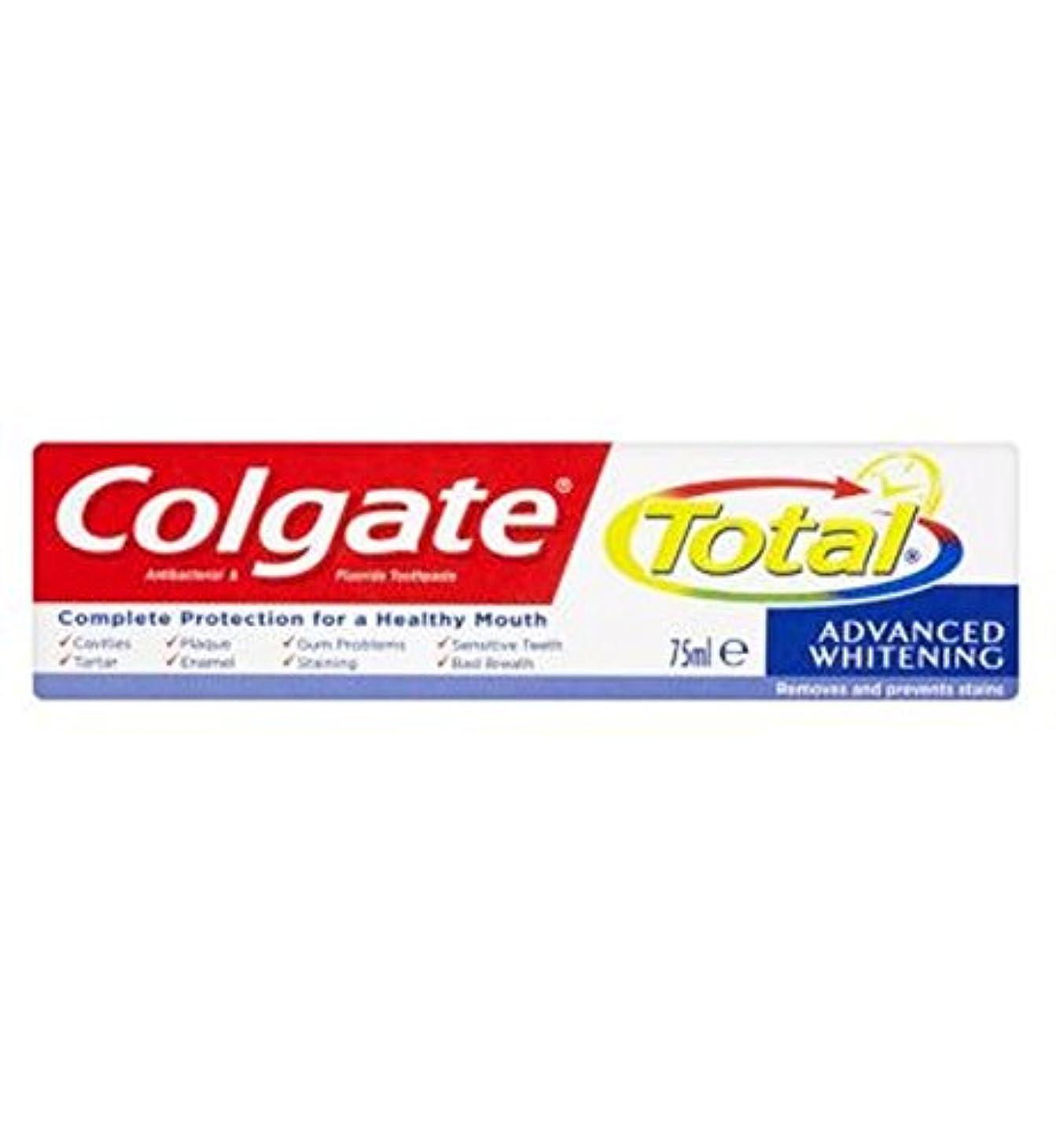 大惨事九時四十五分指紋Colgate Total Advanced Whitening toothpaste 75ml - コルゲートトータル高度なホワイトニング歯磨き粉75ミリリットル (Colgate) [並行輸入品]