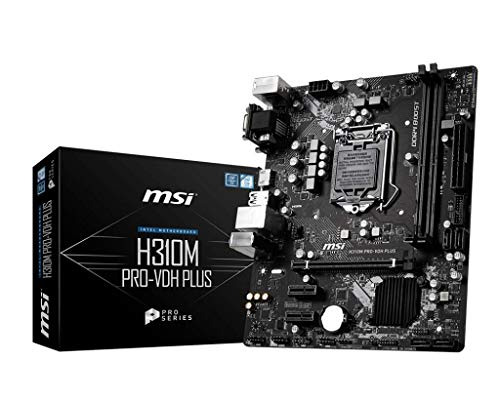 MSI H310M PRO-VDH PLUS Intel Sockel 1151 DDR4 m.2 USB 3.2 Gen 1 HDMI M-ATX Gaming Motherboard