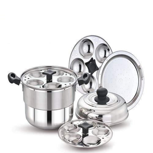 Steel 15PC IDLI with Steamer Plate