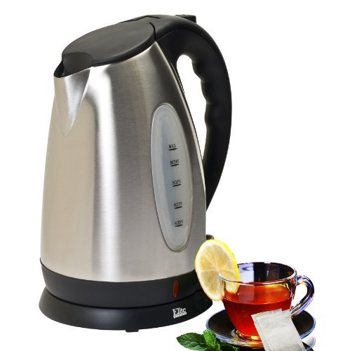 Elite Platinum EKT-7050 Maxi-Matic 10 Cup Cordless Electric Kettle, Stainless Steel, Chrome