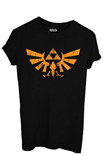 MUSH T-Shirt The Legend of Zelda Logo Destroy - Jeux by Dress Your Style - Homme-M Noir