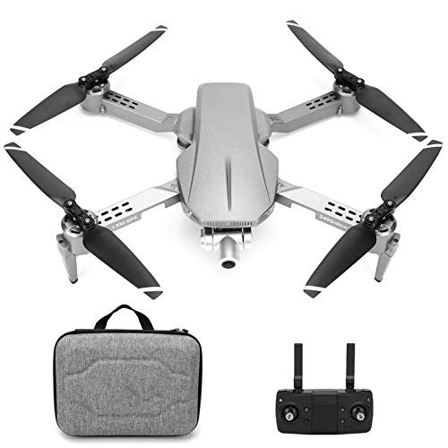 L106 Drohne für Erwachsene, Pro Mini Faltdrohne mit 4K-Kamera, EIN-Tasten-Rückgabe, GPS 2.4G Fernbedienung 2-Achs-Stabilisator Quadcopter