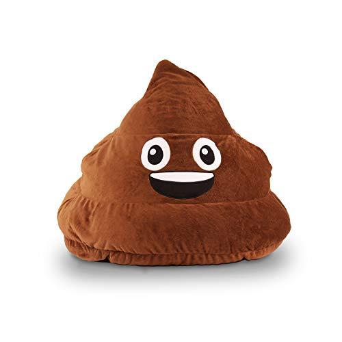 "28"" Brown Poop Emoji Bean Bag Funny Emojis Design Beanbag Chair 3D Smiley Face Emoji Sofa Sack Stuffed Comfortable Indoor/Outdoor Fun Kids Gift Dual Zipper Lightweight Polystyrene Beads, Polyester"