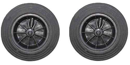 Sulo 2 x Ersatzräder für Mülltonnen, schwarz, Rad für Müllgroßbehälter 60/80/120/240 Liter Mülltonne, Abfalleimer