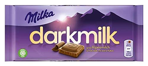 Milka Dark Milk Zarte Alpenmilch Schokolade mit extra Kakao (10 x 85g)
