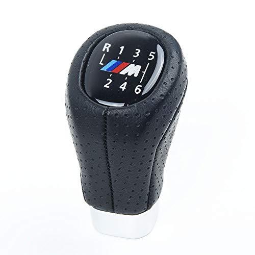 Auto Pomello Leva del Cambio 6 velocità del Cambio in Pelle pomello M Sport PU/Fit for BMW E61 E63 E64 E83 E90 E91 E92 (Color : Black)