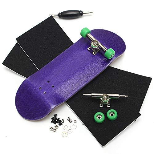 Dorime 1PC Dedo Dedo de Madera Tablas de Skate Profesional Patín básica de la Madera del diapasón con rodamientos de la Rueda de Espuma Destornillador