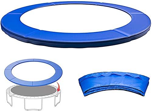 VULLDWS Cubierta de resorte para trampolín, cubierta de primavera de seguridad relleno de almohadillas envolventes, 6 pies 8 pies cuadrados a 12 pies 13FT 14FT, resistente a los rayos UV, resistente a