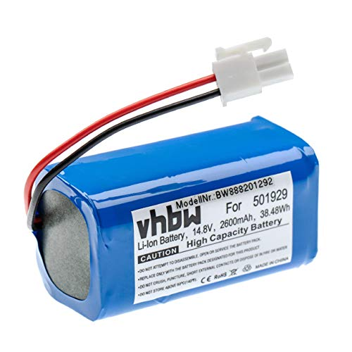 vhbw batteria compatibile con Zaco A4s, A6, A8s, A9s aspirapolvere home cleaner (2600mAh, 14.8V, Li-Ion)