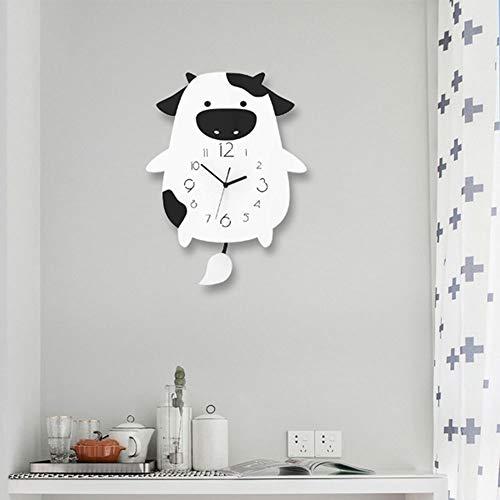 Reloj de pared – PMMA/puntero metálico/personalidad/hogar/reloj, reloj de pared de moda para sala de estar, dormitorio, reloj de pared creativo (30 x 40 cm)